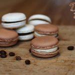 Makronky čokoládové a vanilkové 6 ks