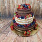 nahatý dort tmavý a světlý korpus, vanilkový a čkoladový