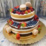 nahaty dort jahody maliny borůvky ostruziny a makronky 1