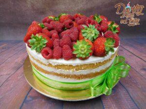 nahý dort malina jahoda