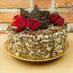cokoladovy dort s ovocem