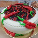 cili dort s jedlou fotkou