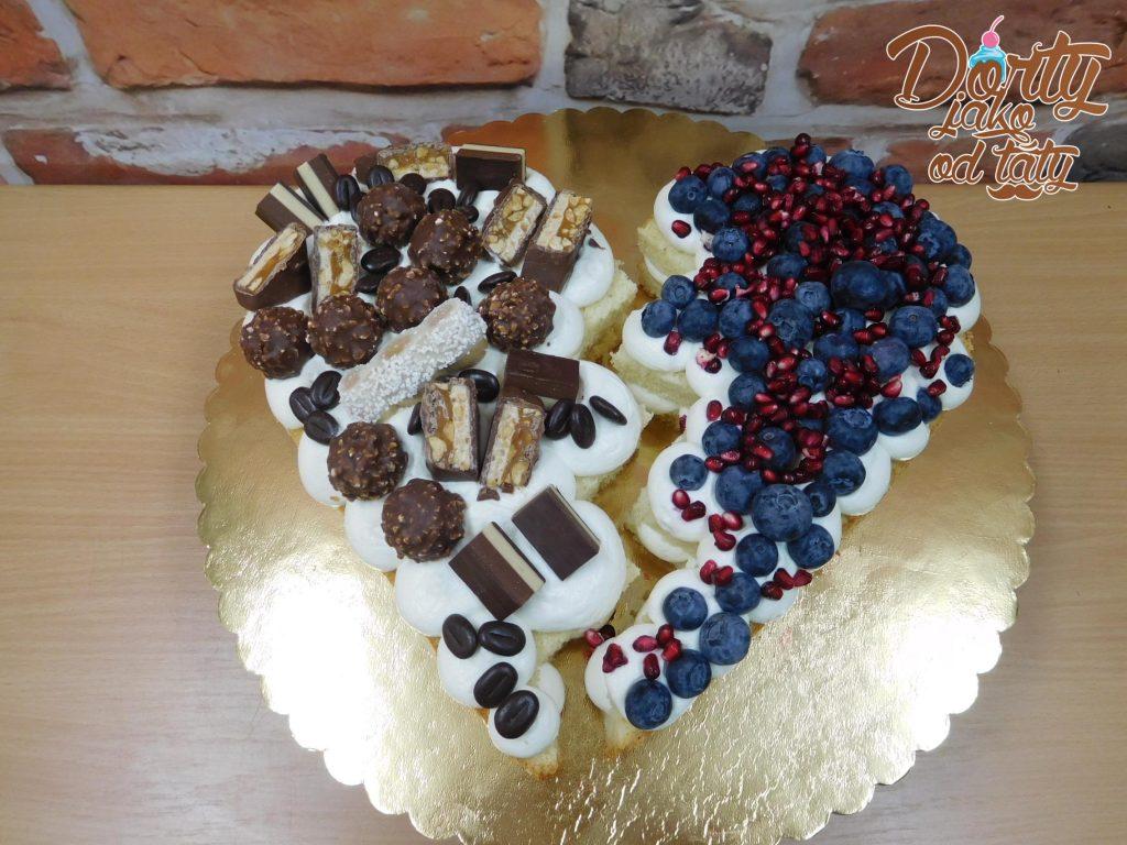 pulene srdce boruvky a cokolada