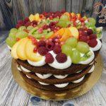 letni dort cerstve ovoce