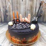 rockovy potahovany dort