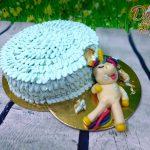 jednorozec kousajici dort