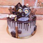 stekany dort s cokoladou a slivovici