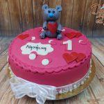medvidek na dortu