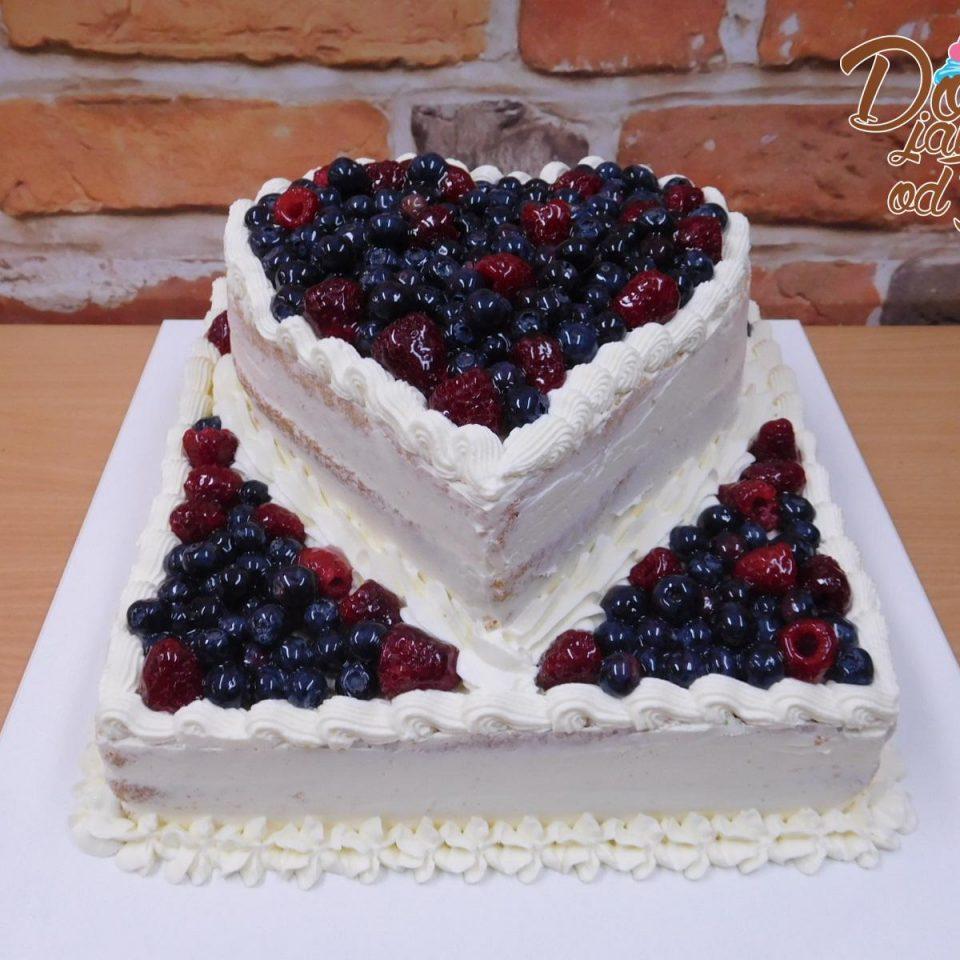retro svatebni dort