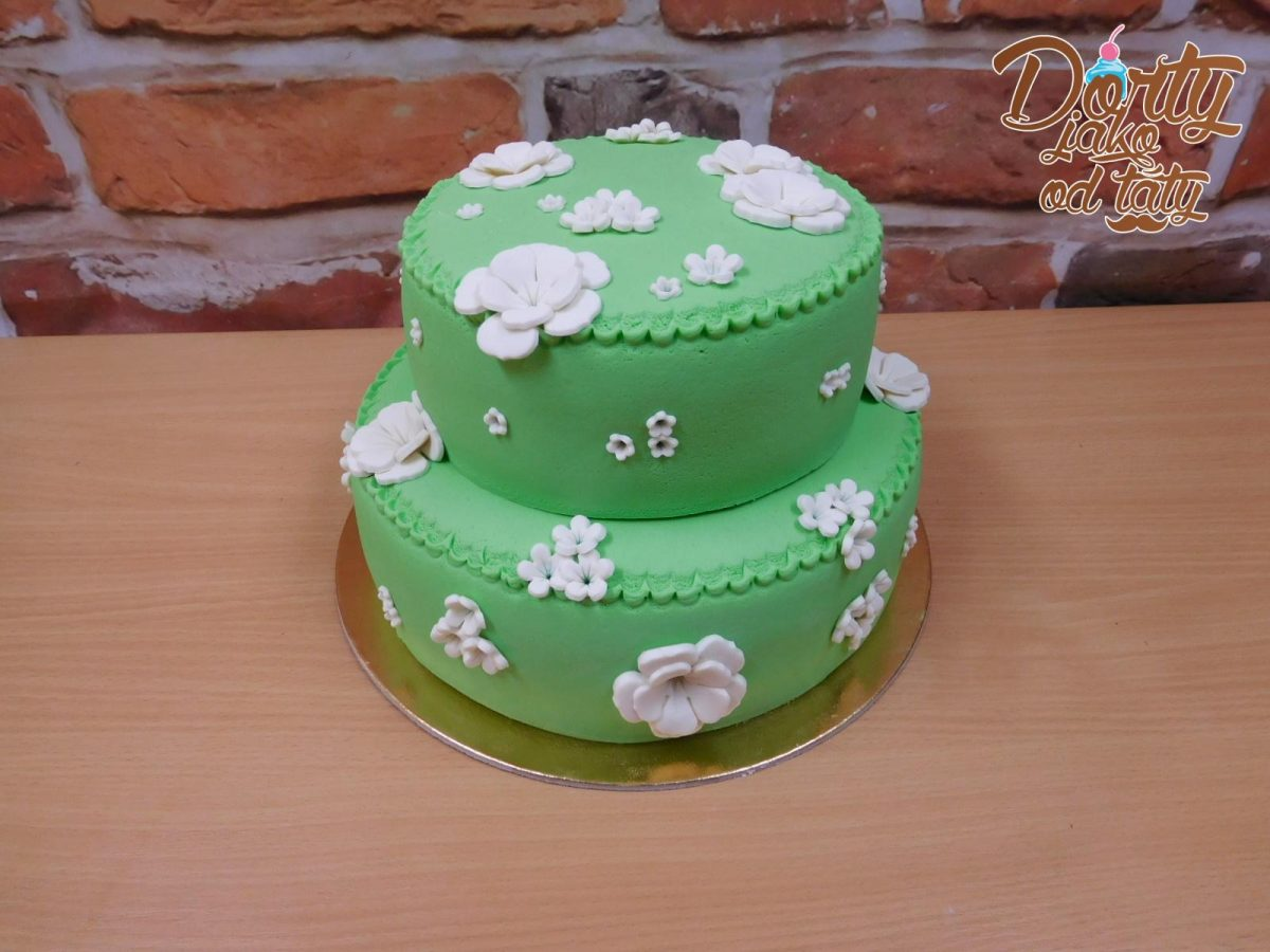 zeleny svatebni dort