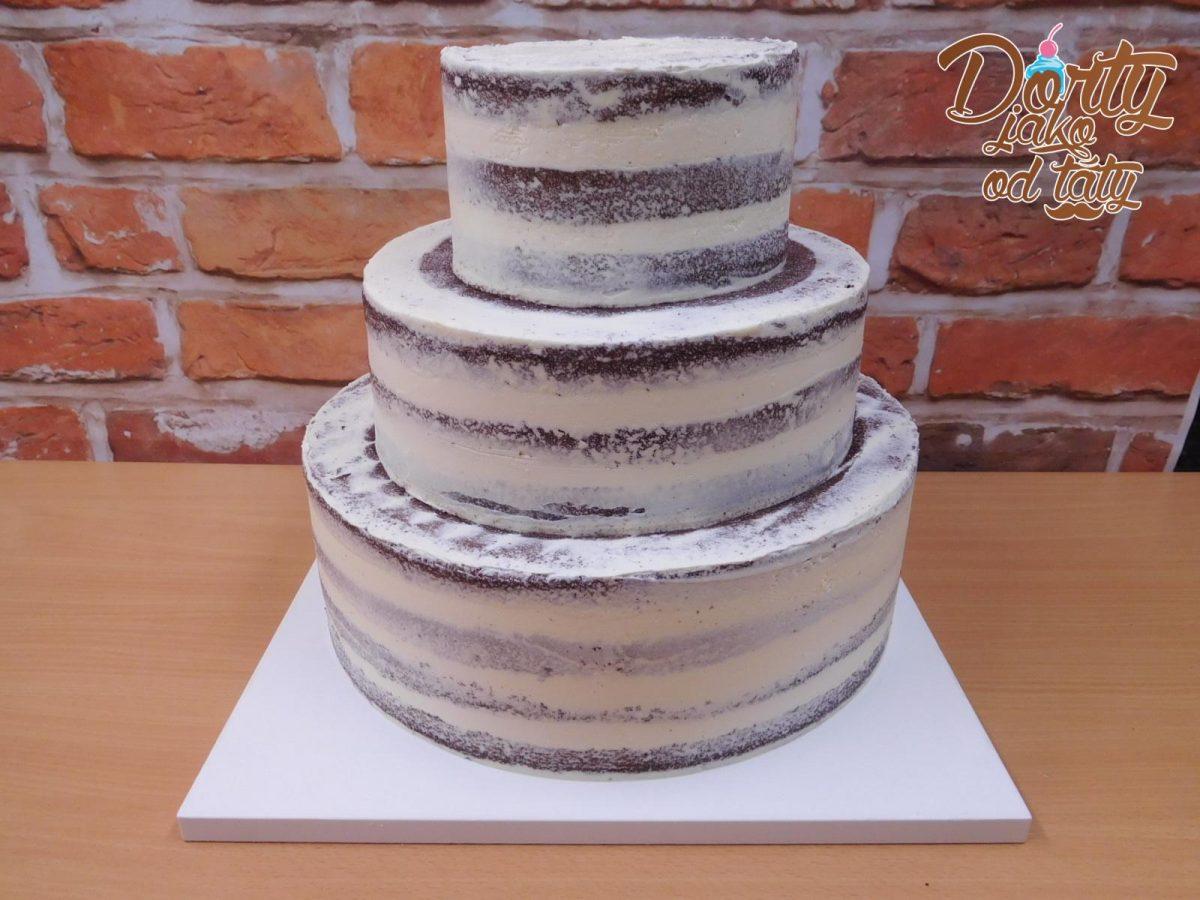 obmazany dort