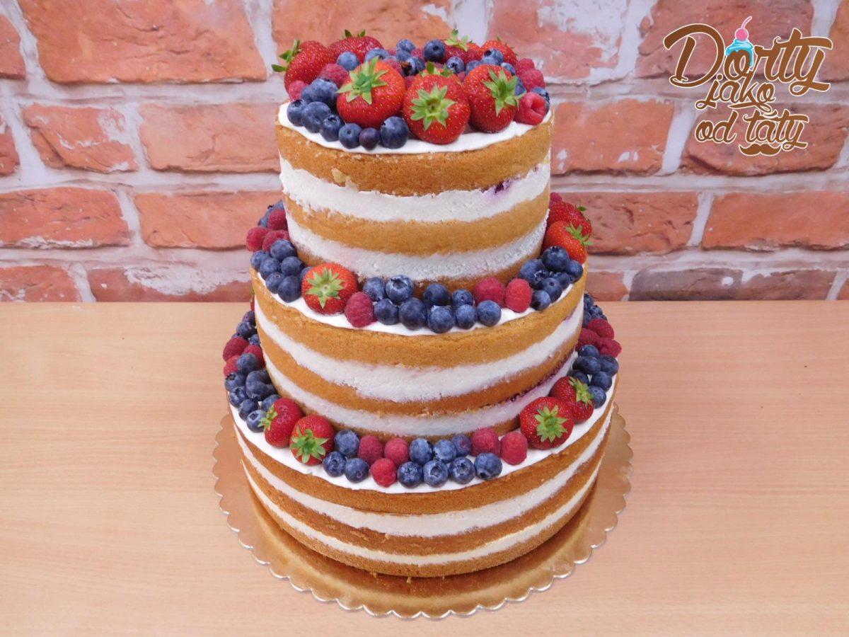 vanilkovy nahy dort