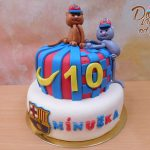 fotbalovy dort barcelona