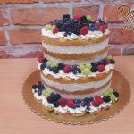 narozeninovy dort ovoce