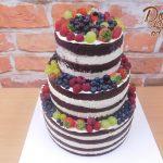 ovocny dort nahy svatebni