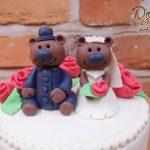 medvidci svatebni dortik