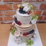 svatebni dort bavlna ovoce