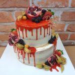 jahodovy stekany dort