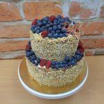 oriskovy dort s ovocem