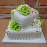 limetkovy svatebni dort