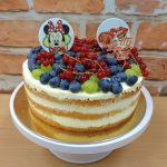nahy dort ovocny s jedlym papirem