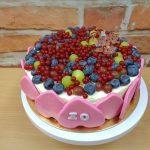ovocny dort s marcipanem