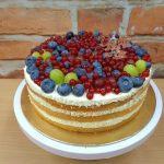 vanilkovy piskot ovocny dort