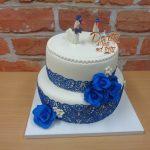 svatebni dort modra krajka