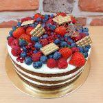 ovocny dort zlate zdobeni