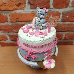 narozeninovy dort medvidek ruzovy