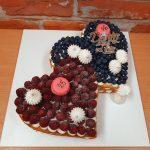 ovocny dortik spojena srdicka